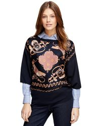 Brooks Brothers Silk and Cotton Cape - Lyst