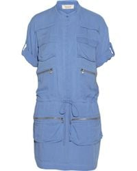 Paul & Joe Marsiac Washed Chambray Mini Dress - Lyst