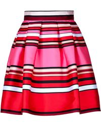 Alberta Ferretti Striped Silkblend Flared Skirt - Lyst