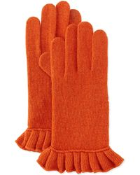 Portolano Cashmere-Blend Ruffle Tech Gloves - Lyst