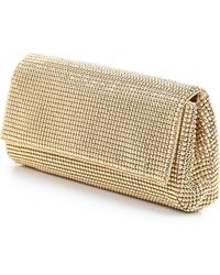 Whiting & Davis Pyramid Mesh Clutch - Gold - Lyst