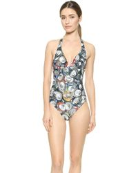 Moschino Crushed Cans Maillot - Multi - Lyst