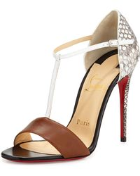 Christian Louboutin True Blue Python Red Sole Pump - Lyst