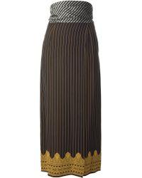 Jean Paul Gaultier Pinstripe Skirt - Lyst