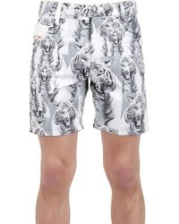 Diesel Tiger Nylon Swimming Shorts - Lyst