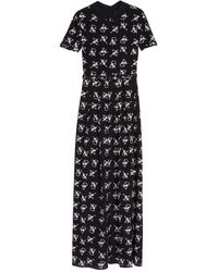 Alice By Temperley Rowan Cat Print Silk Maxi Dress - Lyst