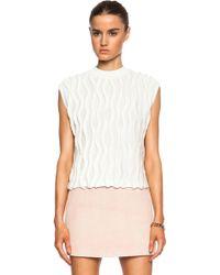 3.1 Phillip Lim Wavy Stitch Cotton Pullover - Lyst