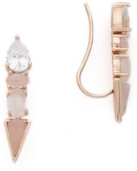 Samantha Wills - Horses & Hummingbirds Ear Climbers - Rose Gold - Lyst