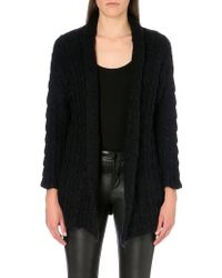Maje Oversized Knitted Mohair-blend Cardigan - Lyst
