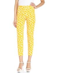 Love Moschino Floral Print Jacquard Trousers - Lyst