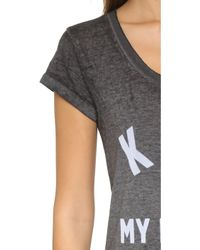 ELEVEN PARIS - Kate Is My Religion Tee - Burn Out Jersey Black - Lyst