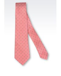 Giorgio Armani Silk Tie with Stripes and Polka Dots - Lyst
