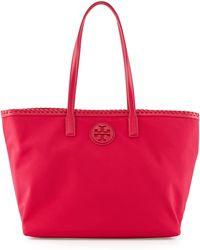 Tory Burch Marion Nylon Tote Bag - Lyst