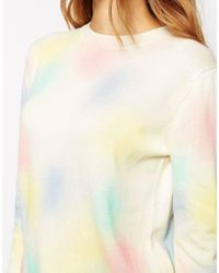 Le Mont St Michel Sweater In Pastel Print