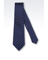 Giorgio Armani Silk Tie with Geometric Pattern - Lyst