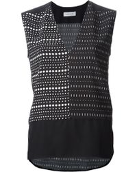 Costume National Mix Print Blouse - Lyst