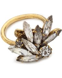 Erickson Beamon - Crystal Ring - Clear/gold - Lyst