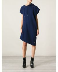 McQ by Alexander McQueen Asymmetric Sweatshirt Dress - Lyst