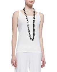 Eileen Fisher Silk Jersey Long Slim Camisole - Lyst