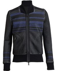 James Long Woven Mesh Bomber Jacket - Lyst