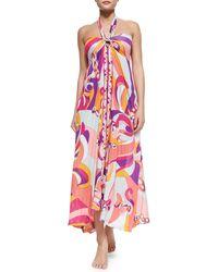 Emilio Pucci Printed Convertible Maxi Dress Skirt - Lyst
