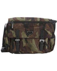 Prada Green and Black Camouflage Nylon Medium Messenger Bag - Lyst