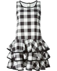 Dolce & Gabbana Check Ruffled Dress - Lyst