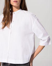 Maje Shirt - Cotton Poplin Crop Shirt - Lyst