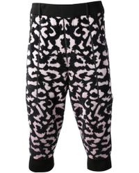 Sibling - Knitted Leopard Print Trouser - Lyst