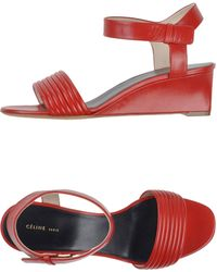 Celine Red Sandals - Lyst