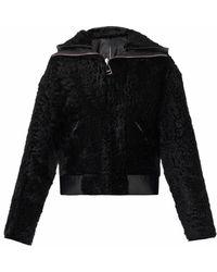 Balenciaga Reversible Shearling Biker Jacket - Lyst