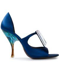 Giorgio Armani Spoon Heel Sandals - Lyst