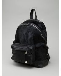 Balmain Black Contrasting Backpack - Lyst