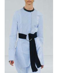Edun Oxford Henley Dress Blue blue - Lyst
