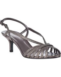 Pelle Moda Firefly Evening Sandal Pewter Leather - Lyst