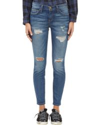 """Current/Elliott """"The Stiletto"""" Dstressed Jeans - Lyst"""