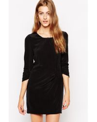 Dress Gallery - Long Sleeve Silk Dress With Rouched Detail - Lyst