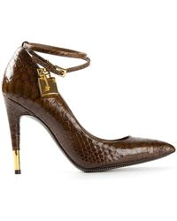 Tom Ford Ankle Strap Pumps - Lyst