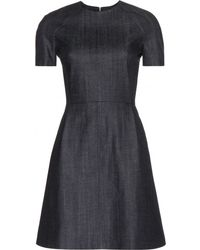 Victoria Beckham Blue Denim Dress - Lyst