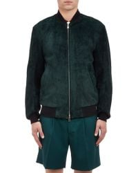 Marni Suede Bomber Jacket - Lyst