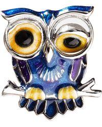 Jan Leslie Winking Owl Lapel Pin - Lyst