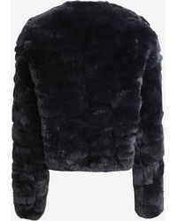 Yves Salomon Exclusive Pieced Rex Rabbit Fur Bomber Jacket Black - Lyst