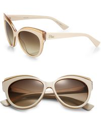 Dior Glisten Oversized Rectangular Sunglasses - Lyst