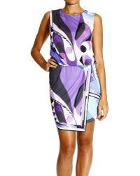Emilio Pucci Dress Sleeveless Jersey Print Astana Skirt Pocket - Lyst
