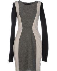 Y.a.s Gray Short Dress - Lyst
