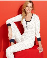 Tommy Hilfiger Thermal Top and Pajama Pants Set - Lyst