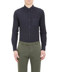Band Of Outsiders Blue Twill Shirt - Lyst