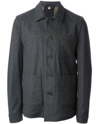 Burberry Brit Patch Pockets Single Breasted Jacket - Lyst