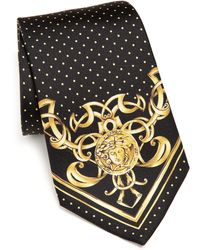 Versace   Dot & Baroque Medusa Tie   Lyst