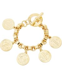 Marc By Marc Jacobs Toggleclasp Charm Bracelet Yellow Golden - Lyst